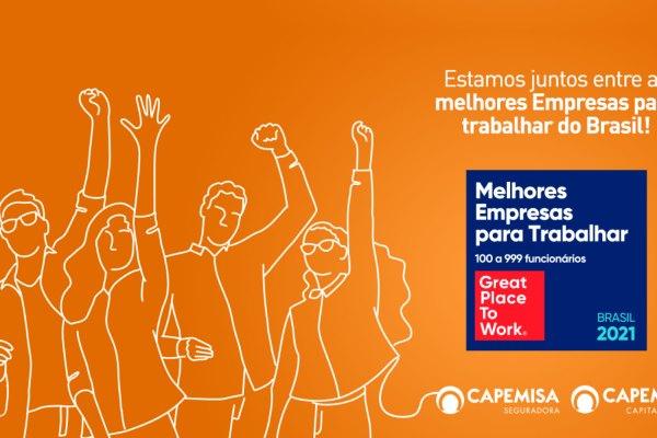 Capemisa Seguradora é eleita como uma das 150 melhores empresas para se trabalhar do Brasil pelo ranking GPTW / Divulgação