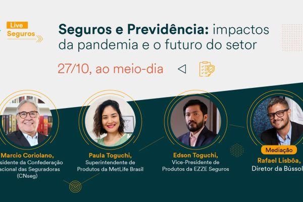 MetLife discute sobre o futuro do mercado de seguros em live promovida pela Exame / Divulgação