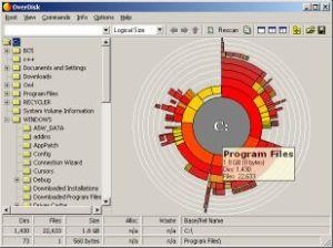 OverDisk folder space tool