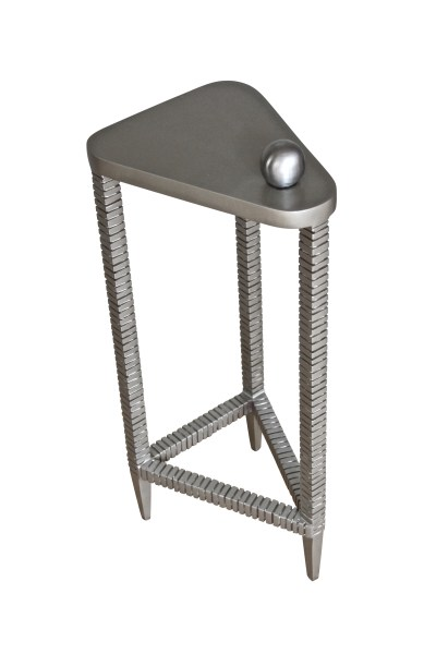 Custom Iron Drink Table with Stainless Ball