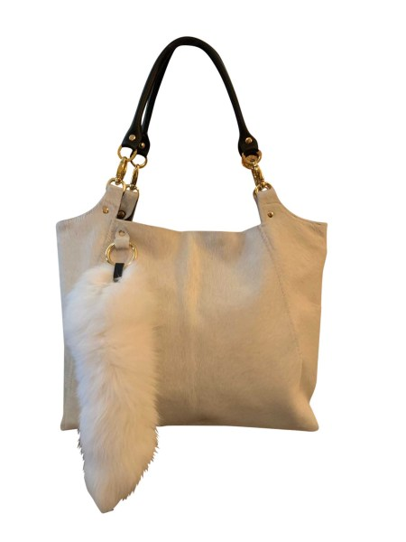Hair on Hide Travel Bag with Fox Tail