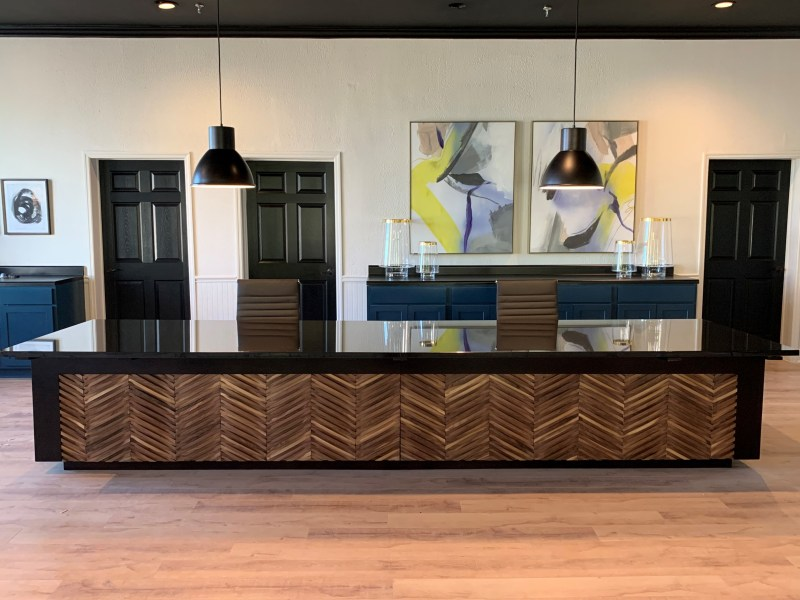 Interiors by Banko Designs - Reception Desk through JRW Custom