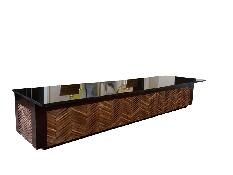 Reception Desk with Absolute Granite Marble Top