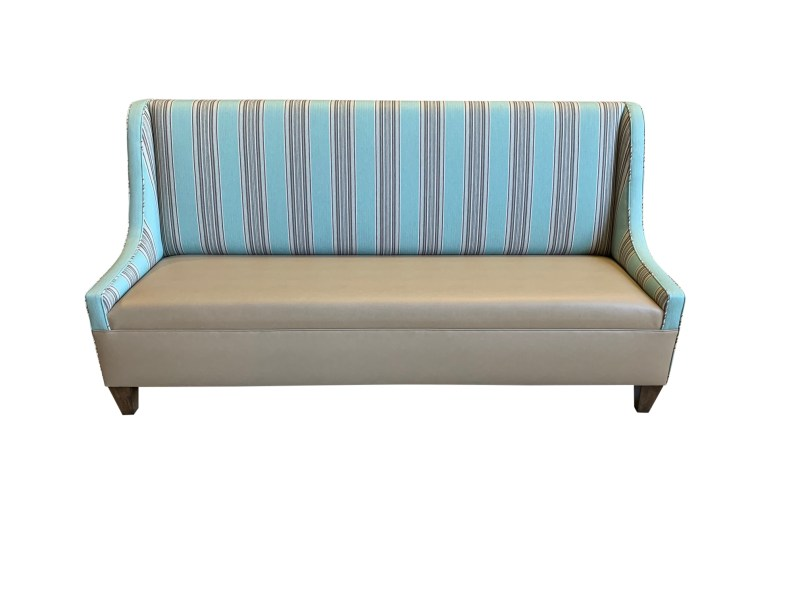 Sloped Arm Custom Banquette