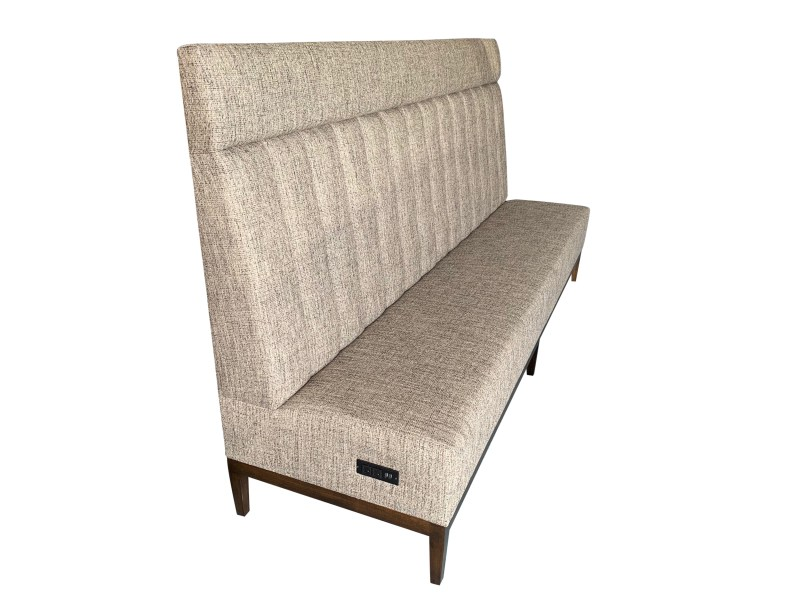 Commercial Channeled Banquette Side View
