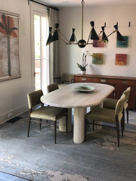 Interiors by Alice Cramer - Dining Table through JRW Custom