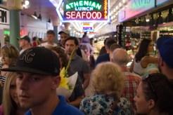 Public Market Center, an open-air market in downtown Seattle, is a popular tourist destination.
