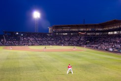 I watched the Tacoma Rainiers, the AAA affiliate for the Seattle Mariners, take on the Sacramento River Cats from the Coors Light Landing at Cheney Stadium.