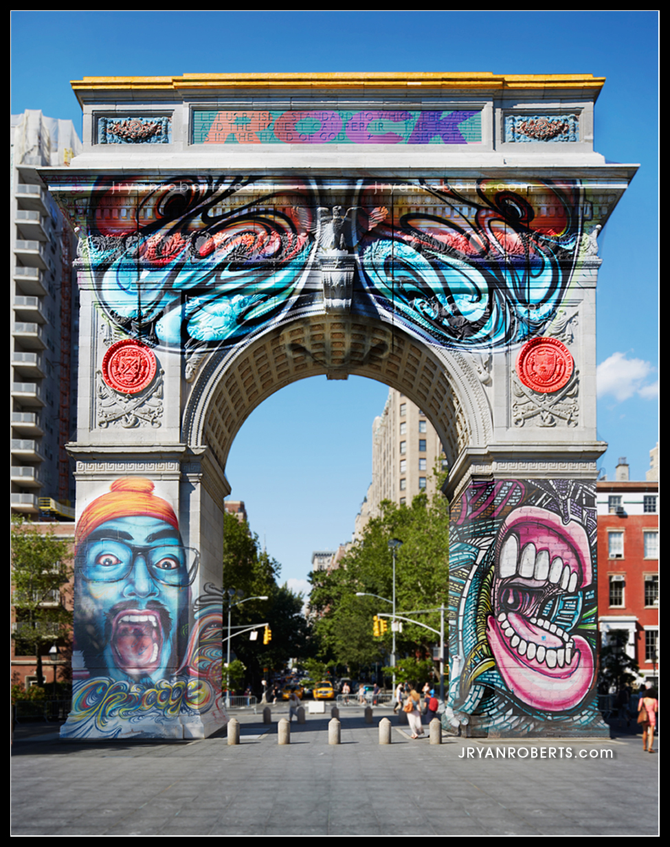 - Washington Square Park Arch Tagged, nyc