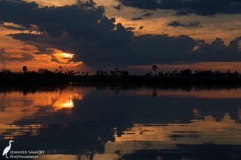 A beautiful sunset on the Okavango Delta, Baines Camp, Botswana. April 2015. 1/250sec, f8.0, ISO 100