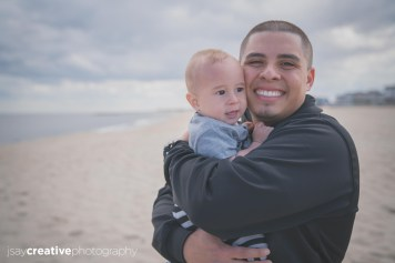 A father and his baby at the beach, Adorable, Baby, Beach, Beautiful Family, Belmar, Belmar Beach, Children, Family, Family at Belmar Beach, Family at the Beach, Family at the Jersey Shore, Father, Father and Son at the Beach, Jersey Shore, New Jersey, Ocean, Son, shore