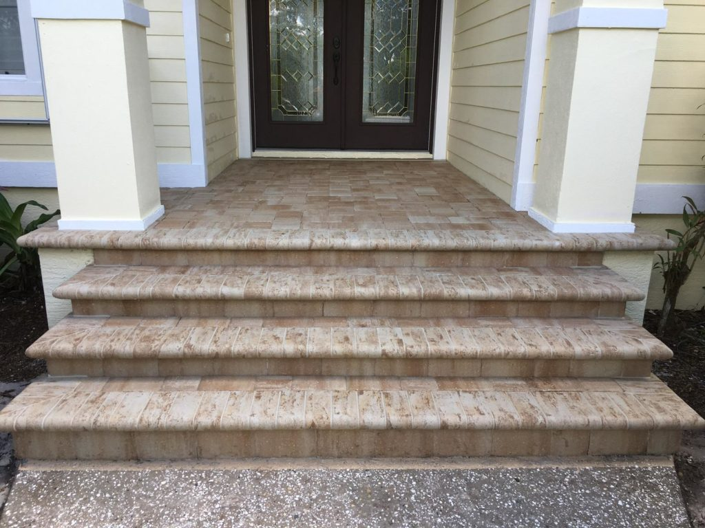 how to build patio paver steps the