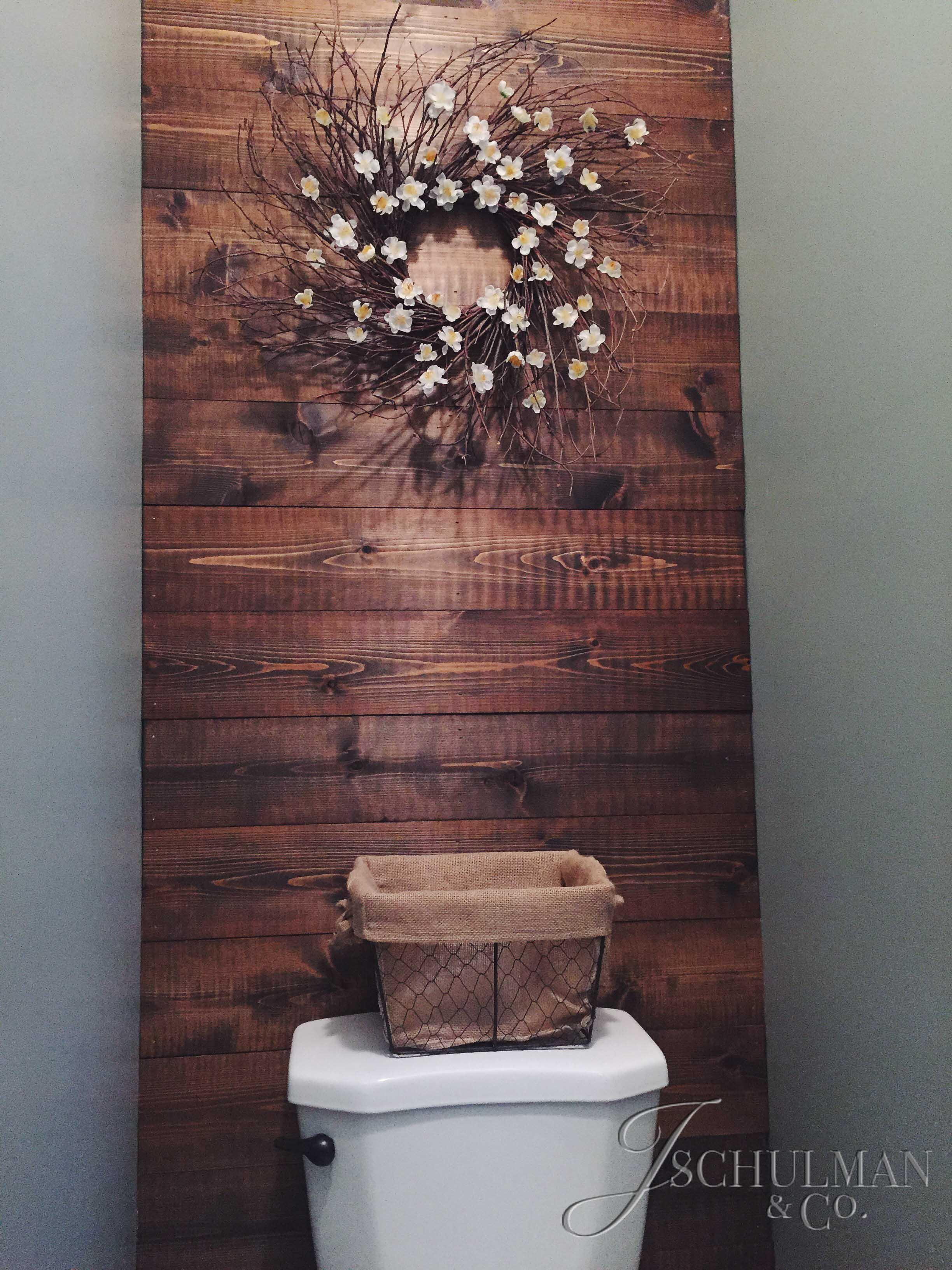 DIY: Wood Panel Bathroom Accent Wall  J. Schulman & Co.