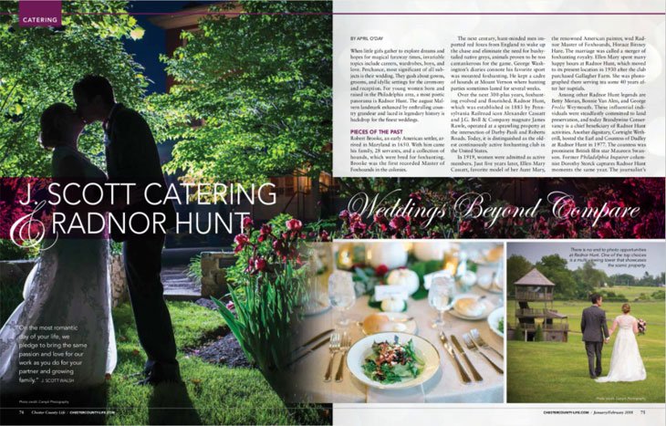 J. Scott Catering Featured in Chester County Life
