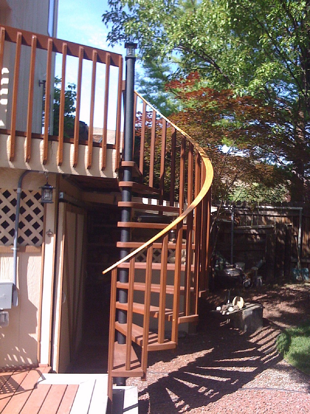 Diy Spiral Staircases   Spiral Staircase For Outside Deck   Exterior   Spiral Stair Design   Attractive   Porch   Rooftop Deck