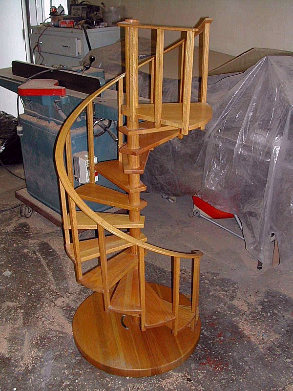Unusual Spiral Stairs   8 Foot Spiral Staircase   Stair Railing   Winding Staircase   Stair Parts   Wood   Modern Staircase