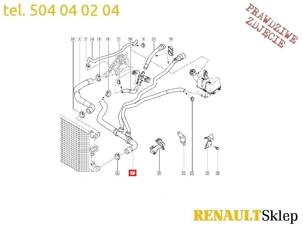 Kup RURA WODY MAGISTRALA RENAULT LAGUNA II 1.8 16V