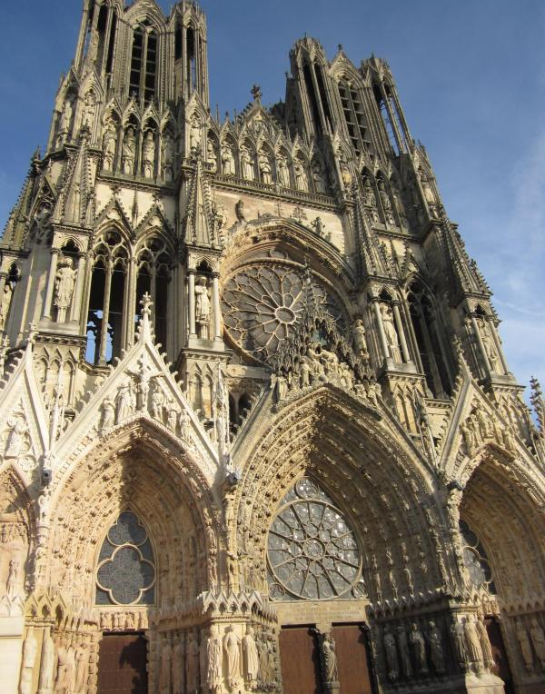 Cathedral Notre-dame De Reims January Scholars In France
