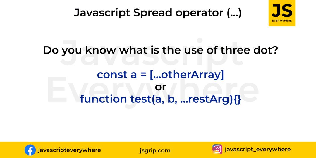 Explain: Three dots or spread operator