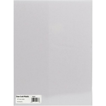 Medium weight 007 thickness 8 5 x 11 clear plastic for Clear plastic sheets for crafts