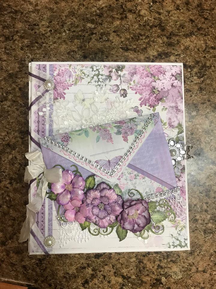 Stamperia Lilac Flowers Mini Album
