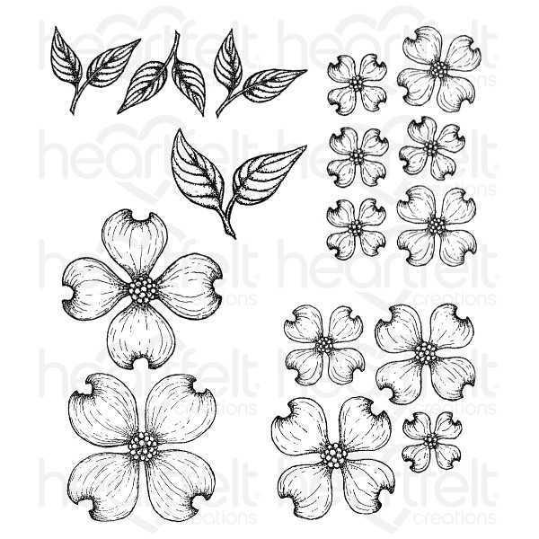 Heartfelt Creations Flowering Dogwood Stamp