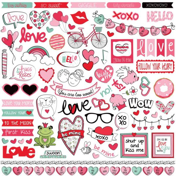 Photo Play Love Notes Sticker Sheet