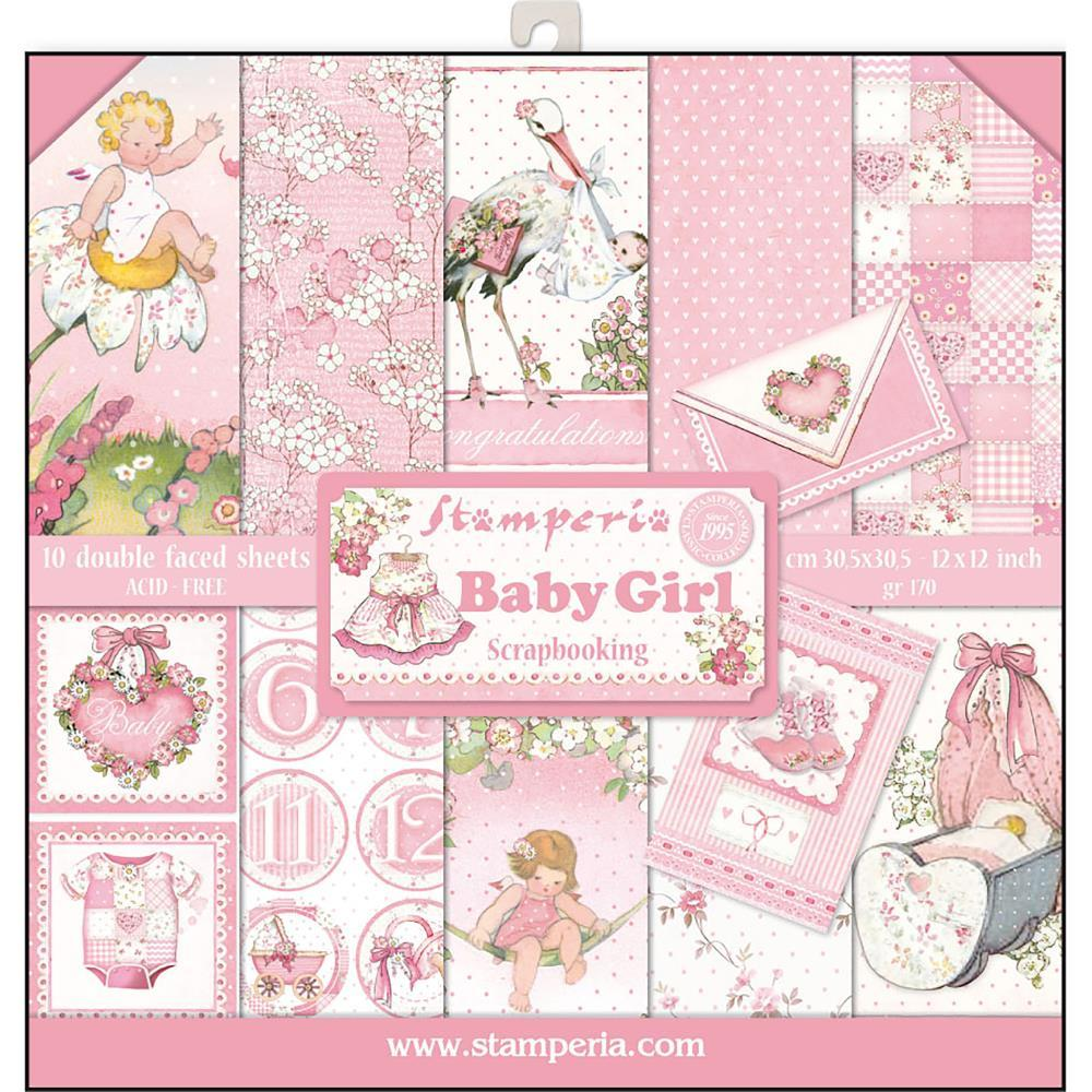 Stamperia Baby Girl Paper Pad Scrapbooking Js Hobbies And Crafts