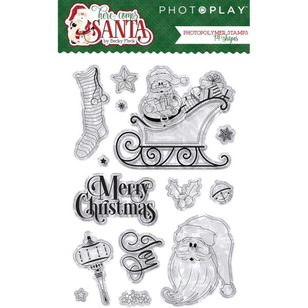 Photo Play Here Comes Santa Clause Clear Stamp Set