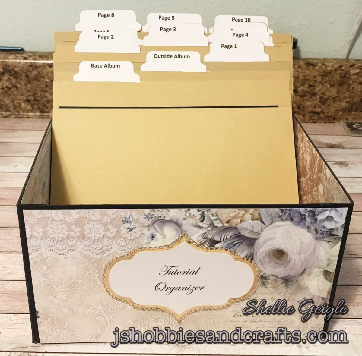 Ciao Bella Brocatto Estence Organizer Box Tutorial