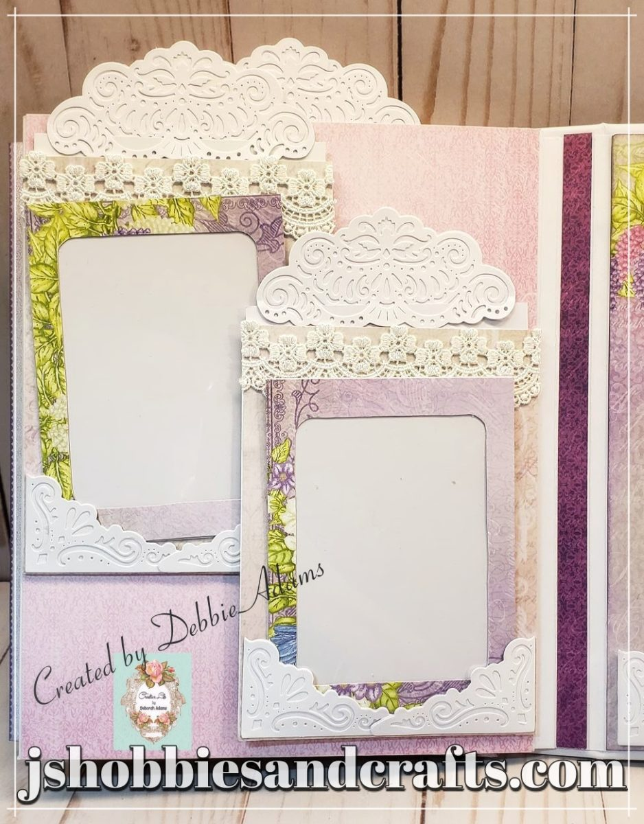 Heartfelt Creations Cascading Petals scrapbook