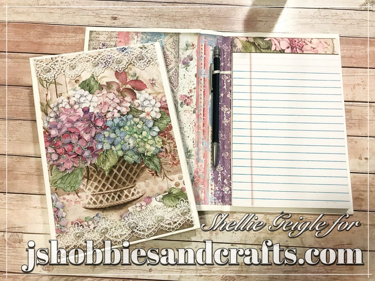 Stamperia Hortensia Notebook Tutorial