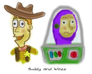 """Buddy and Wozz"""