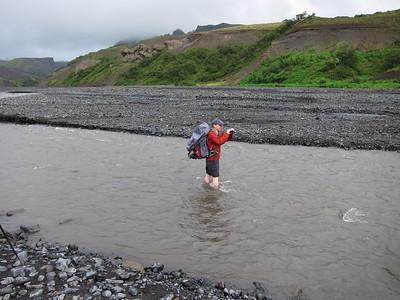 JP filming the crossing