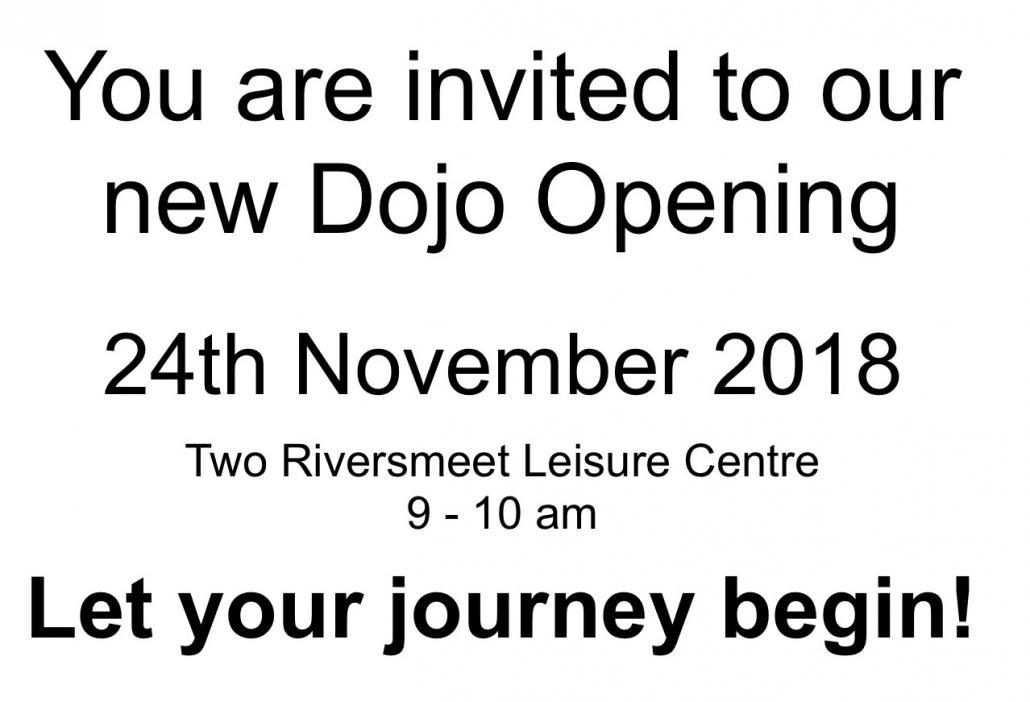 New Dojo Opening Invitation