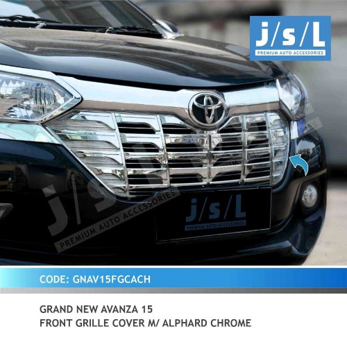 headlamp grand new avanza review all alphard xenia 15 gn front grille cover m chrome