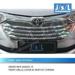 Aksesoris Grand New Avanza All Alphard Hybrid Xenia 15 Gn Front Grille Cover M Bentley Chrome