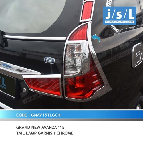 bemper grand new veloz otr avanza xenia 15 gn tail lamp garnish chrome