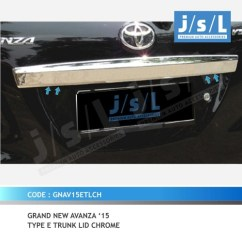 Grand New Avanza Tipe E Cara Setting Alarm Gn 15 Type Trunk Lid Chrome