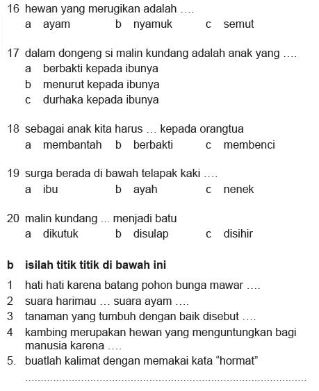 Soal Kelas 2 Sd : kelas, Contoh, Kelas, Semester, Bahasa, Indonesia, Jslasopa