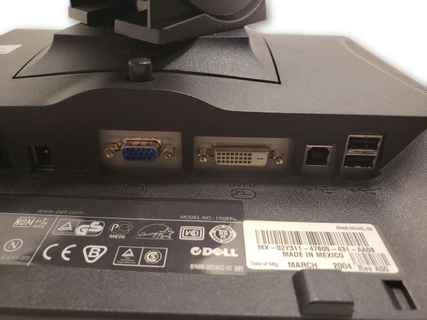 """Dell 1703FPS 17"""" LCD Monitor w/VGA & Power cable"""