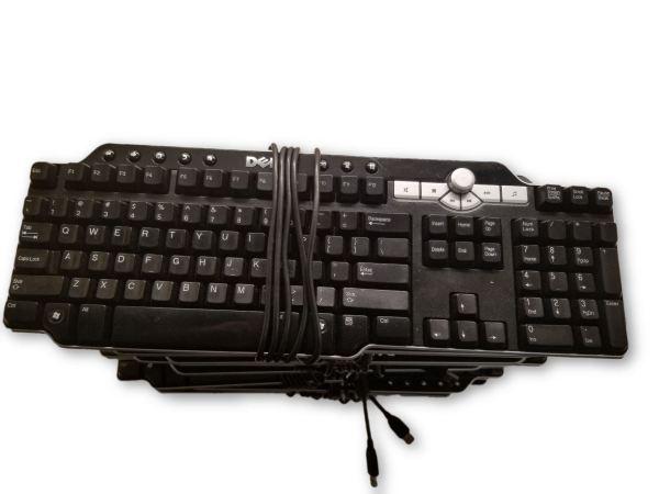 Lot of 10 DELL USB Multimedia Keyboard w/Knob SK-8135 DJ425