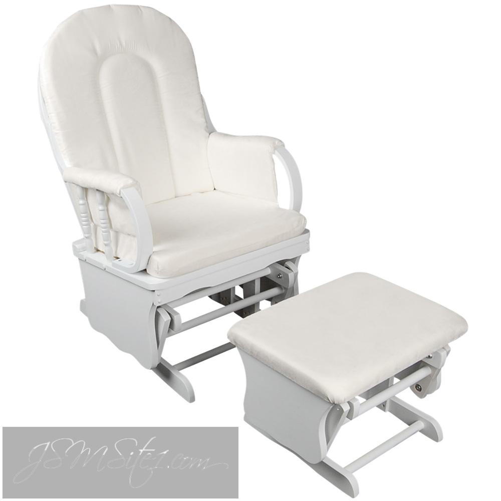 Baby Breast Feeding Sliding Glider Chair w Ottoman