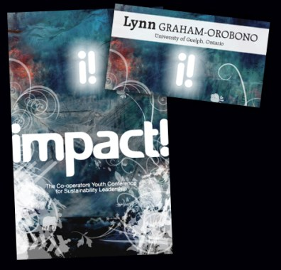 impact! Conference, program cover and name badge