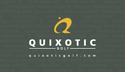 Quixotic Golf, business card (back side)