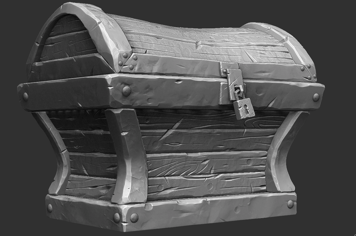 Stylized Chest Old Work Jared Sobotta 3D Artist