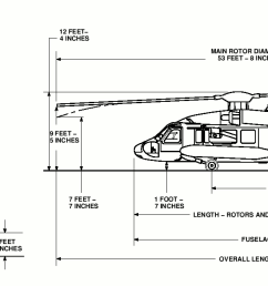 uh 60 black hawk dimensions [ 1642 x 626 Pixel ]