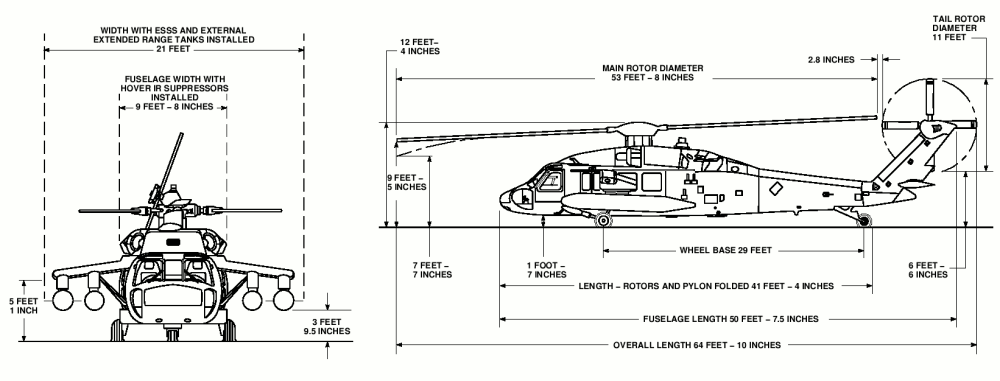 medium resolution of uh 60 black hawk dimensions