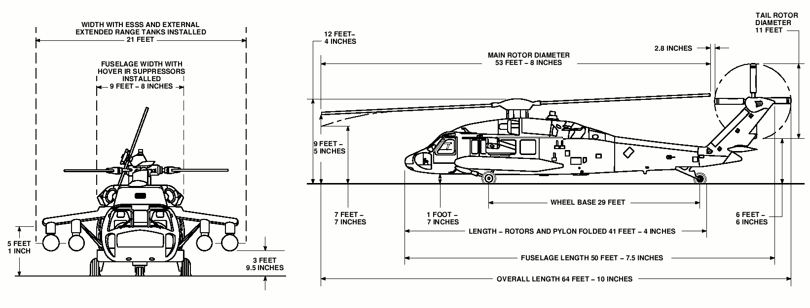 hight resolution of uh 60 black hawk dimensions