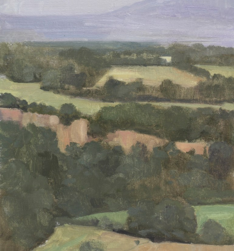 0034 View from Olive Farm II, oil on linen, 13.5x16.5